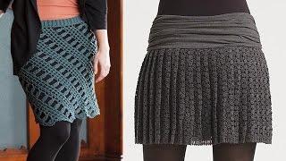 getlinkyoutube.com-faldas mujer tejidas a crochet o ganchillo diseños