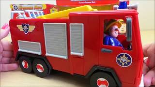 getlinkyoutube.com-Jupiter Friction Powered Toy Fire Engine Unboxing