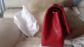 getlinkyoutube.com-Chanel Jumbo Red 2014 Cruise Handbag Haul