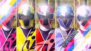 getlinkyoutube.com-Power Rangers Shinobi/Ninja Steel Fan-Opening (Ninninger)