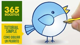 getlinkyoutube.com-COMO DIBUJAR UN PAJARITO KAWAII PASO A PASO - Dibujos kawaii faciles - How to draw a bird