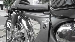 getlinkyoutube.com-LAWLESS BIKE Honda S90 Cafe Racer (test ride)