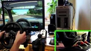 getlinkyoutube.com-City Car Driving v1.2 with Logitech G27 (Maniac Driving, Overtaking, highway/motorway) 1080p