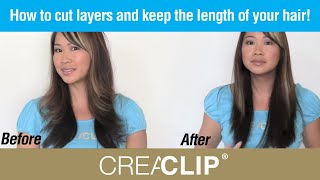 getlinkyoutube.com-How to cut layers and keep the length of your hair! Womens Layer Cut and side BANGs