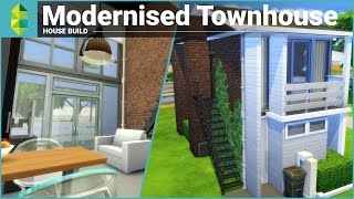 getlinkyoutube.com-The Sims 4 House Building - Modernised Townhouse