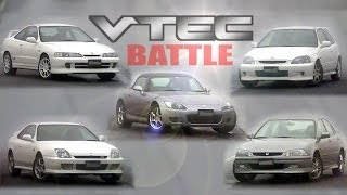 getlinkyoutube.com-[ENG CC] Honda VTEC Battle - Integra R, Civic R, S2000, Prelude S, Torneo Ebisu 1999