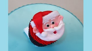 getlinkyoutube.com-Christmas Santa Claus Cupcake - How To With The Icing Artist