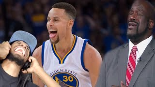 LMAO YOU GET NO LOVE CURRY!! BEST SHAQTIN A FOOL 2016 PLAYOFFS MOMENTS REACTION!