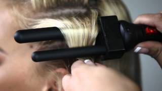 getlinkyoutube.com-Enzo Milano | Bitube Series Clipless Curling Iron | Finger Wave (pro)