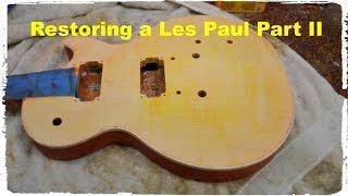 getlinkyoutube.com-Les Paul Restoration Part II Stripping Sanding and Neck Removal - BigDGuitars