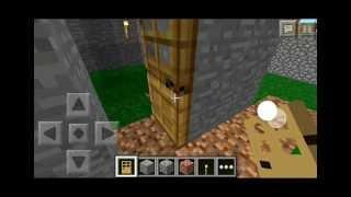 getlinkyoutube.com-Puertas Secretas - Truco- Minecraft Pocket Edition- Español