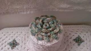 getlinkyoutube.com-Gorro de papel higienico - Tutorial de tejido crochet
