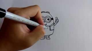 getlinkyoutube.com-วาดการ์ตูนกันเถอะ สอนวาดการ์ตูน Dave กล้วยหอม มินเนี่ยน ง่ายๆ หัดวาดตามได้