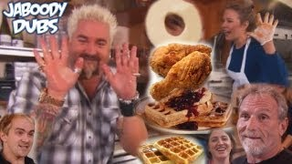 getlinkyoutube.com-Guy Fieri Dub: Chicken & Waffles