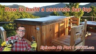 getlinkyoutube.com-How to Build a Patio Bar with a Concrete Counter Top | Episode 15 Part 1