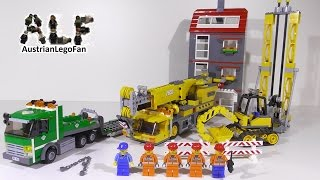 getlinkyoutube.com-Lego City 7633 Construction Site / Baustelle - Lego Speed Build Review