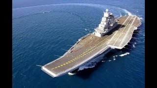 getlinkyoutube.com-Indian Armed Forces - INS Vikramaditya (R-33) Aircraft Carrier Sea Trials [480p]