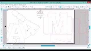 getlinkyoutube.com-REDIMENSIONANDO LETRAS 3D para Silhouette studio