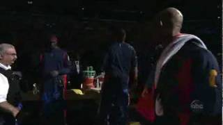 getlinkyoutube.com-2004 NBA Finals Game 2: Pistons vs Lakers - Player Introductions and full Intro