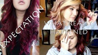 getlinkyoutube.com-MAGENTA PINK HAIR COLORING EPIC FAIL
