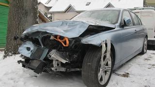 getlinkyoutube.com-BMW 3. Repair of a body and minimum of painting. Ремонт кузова и минимум покраски.