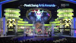 getlinkyoutube.com-080424 SNSD - Girls' Generation live SBS Paek Sang Awards