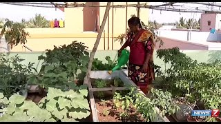 getlinkyoutube.com-Make the best of your terrace by creating a Garden   Poovali   News7 Tamil