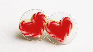getlinkyoutube.com-Heart shape Earrings with paper  handicrafts Making tutorials