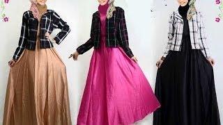 getlinkyoutube.com-Busana muslim terbaru untuk wanita, baju kurung moden, gamis pesta, model baju terbaru