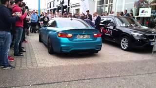 getlinkyoutube.com-BMW M4 JP-Performance START UP and BURNOUT !!!