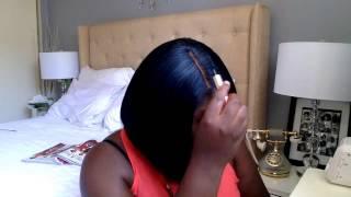 getlinkyoutube.com-Cute Bob Lace Wig  Review by New Born Free