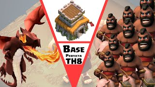 EL DISEÑO ►PERFECTO◄ PARA TH8 (GUERRA) | Clash Of Clans
