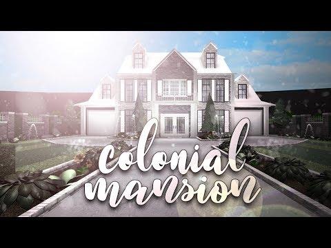 Roblox   Bloxburg: Colonial Mansion   House Build - ytube.tv