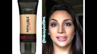 getlinkyoutube.com-My Take:  L'Oreal Infallible Pro-Matte Foundation