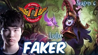 SKT T1 Faker LULU Mid vs Lux - Patch 6.1 KR | League of Legends