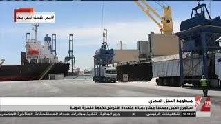 استمرار العمل بمحطة ميناء دمياط متعددة الأغراض لخدمة التجارة الدولية