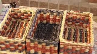 getlinkyoutube.com-Как выдержать ровные углы при плетении из газетных трубочек