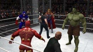 getlinkyoutube.com-WWE 13 | Iron Man vs Hulk vs Thor vs Cpt America vs Hawkeye vs Nick Fury