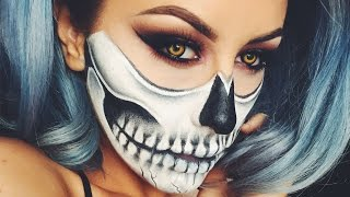 getlinkyoutube.com-Halloween Skull Makeup - Chrisspy