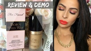 getlinkyoutube.com-Too Faced Born This Way Foundation Review| Krystal Allen