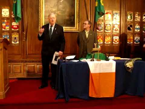 Turning of the seal in the Mansion House, Dublin 21st of January 2018