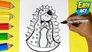 getlinkyoutube.com-Como Dibujar la Virgen de Guadalupe - How to Draw a Virgin of Guadalupe