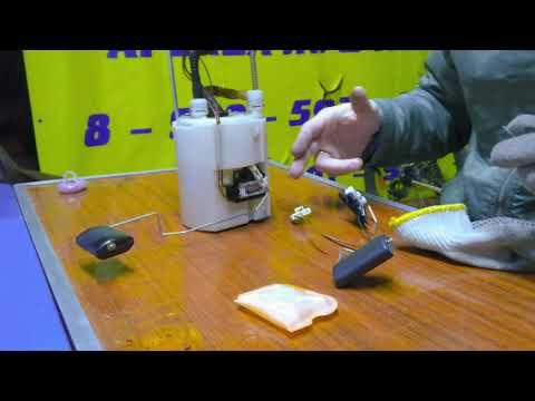 Топливный фильтр. Замена датчика уровня топлива и сеточки фильтра грубой очистки IX35