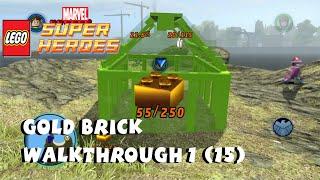 getlinkyoutube.com-Gold Brick Walkthrough #1 (15 Gold Bricks in Free Play)  - Lego Marvel Super Heroes