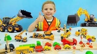 getlinkyoutube.com-Машины SIKU для детей. Экскаватор | Автокран | Дорожный Погрузчик - Детское видео про Машинки