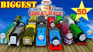 getlinkyoutube.com-NEW THE BIGGEST! Thomas and Friends THE GREAT RACE #50 TRACKMASTER TOY TRAINS|Blue Mountain Quarry
