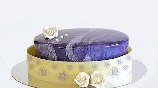 getlinkyoutube.com-Chiboust de vainilla, mousse de frutos del bosque, y glaseado violeta efecto mármol