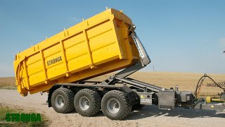 Stronga HookLoada 260DT XL trailer & combine – Ultra-efficient grain harvest
