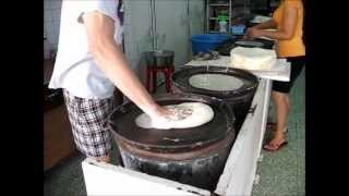 getlinkyoutube.com-The Making of Chinese Spring Roll skin / Spring Roll Wrapper / Popiah Skin