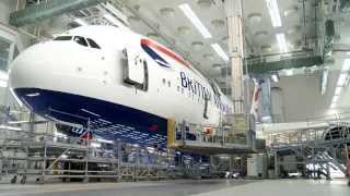 getlinkyoutube.com-British Airways' first Airbus A380 receives its colours